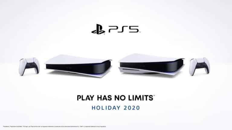 photo de la PS5 à l'horizontale