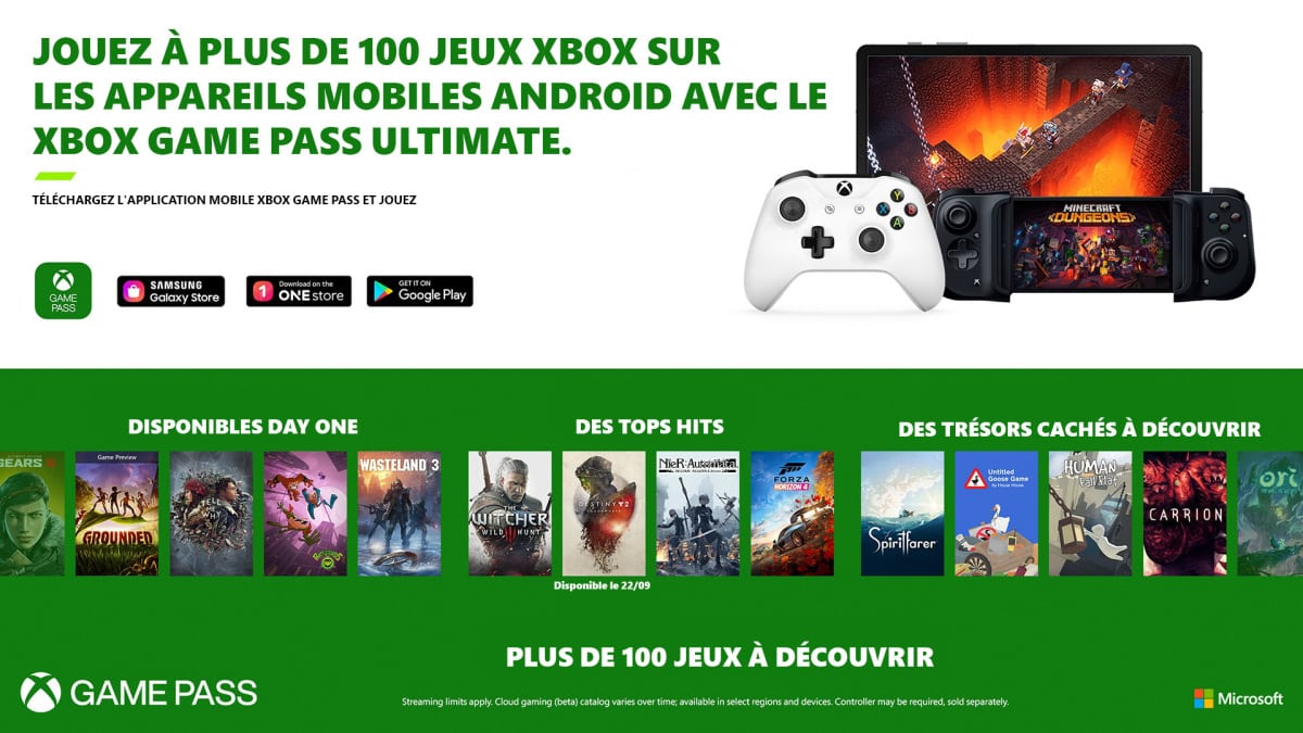 Liste jeux xCloud France