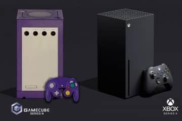 Xbox Series X taille trois GameCube