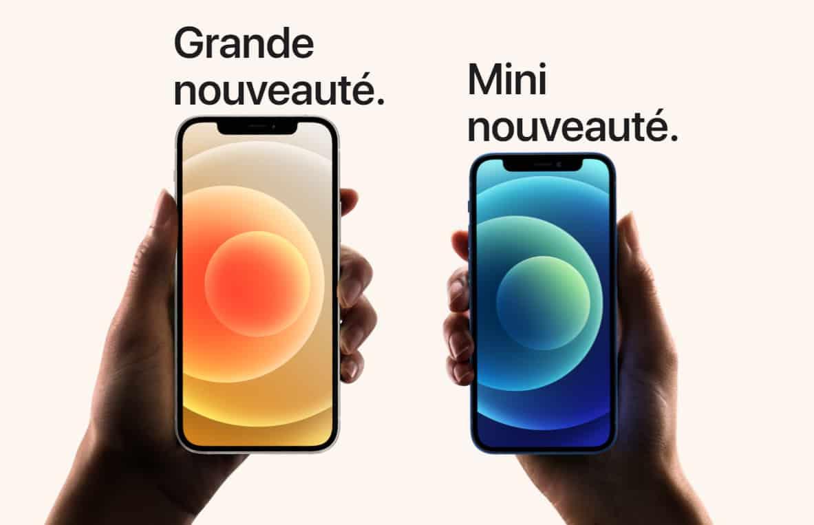 Test comparatif iPhone 12 Mini
