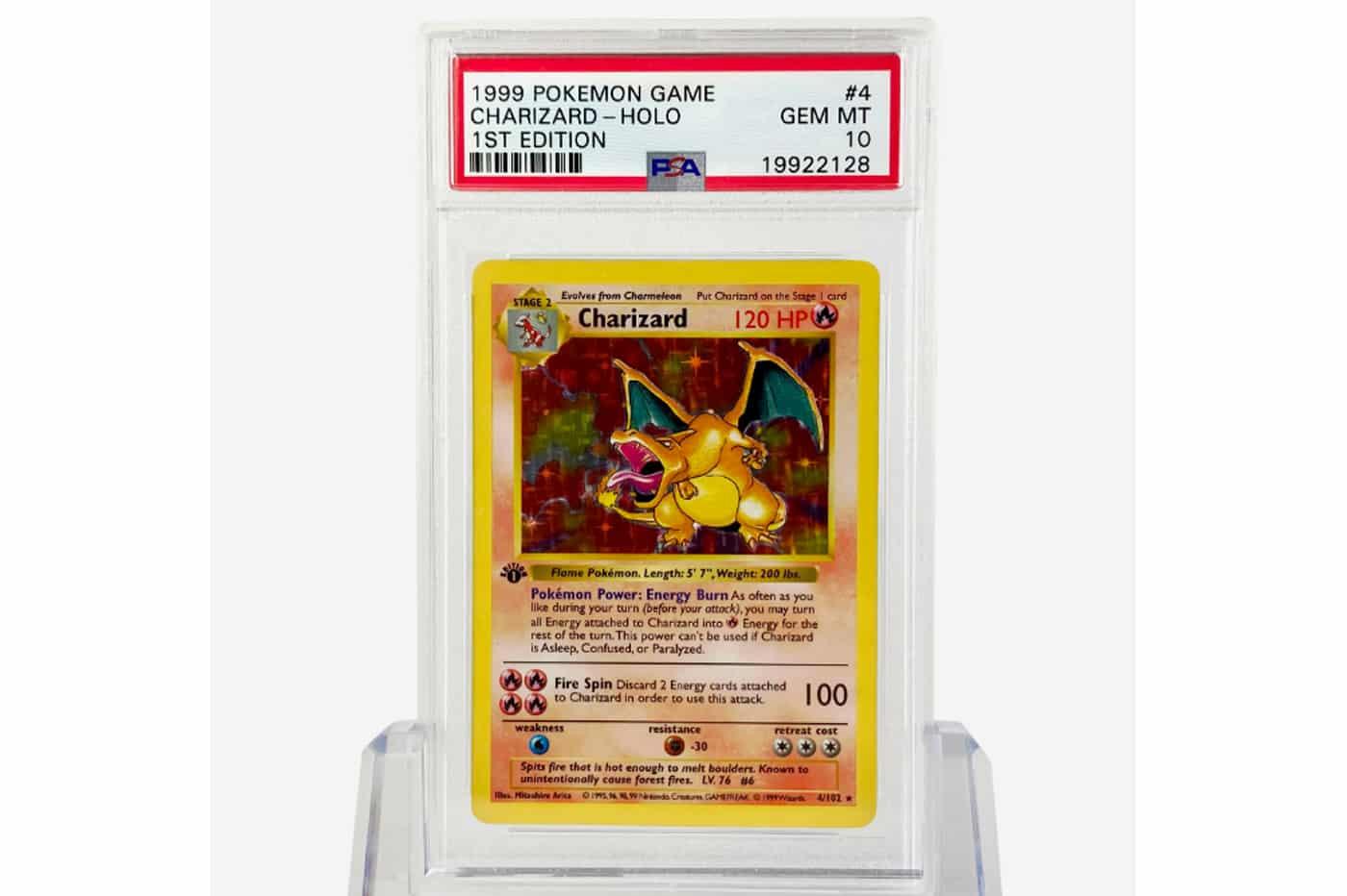 Prix carte Pokémon Dracaufeu Charizard