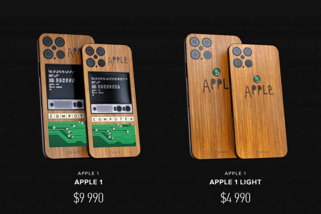 Prix iPhone 12 Apple 1 Caviar