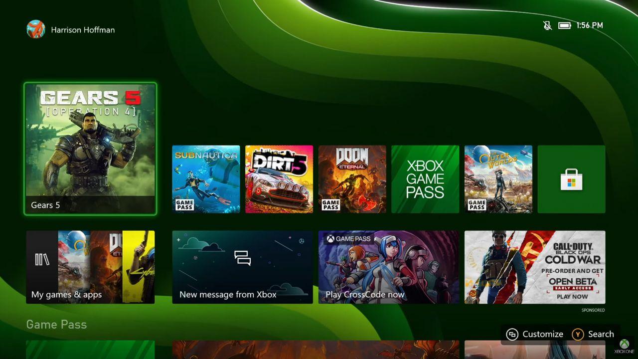 L'interface des Xbox Series S|X est identique à celle des Xbox One