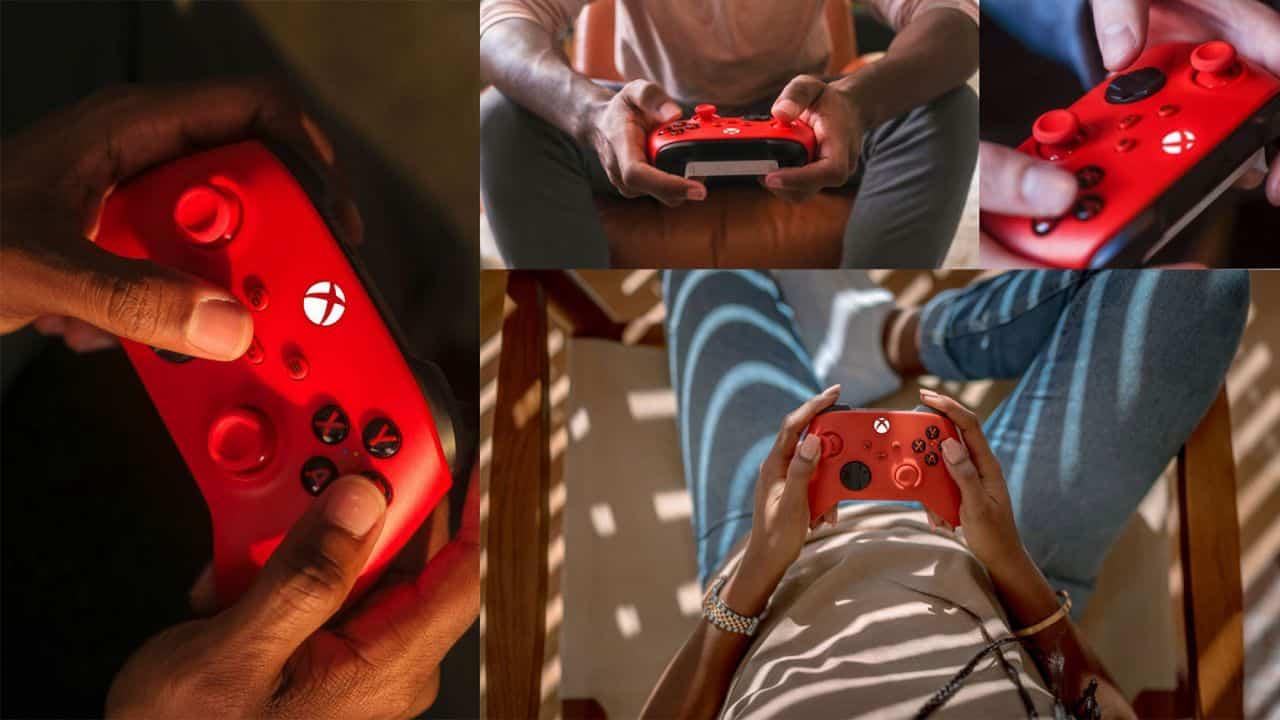 Manette Xbox Rouge Super Mario