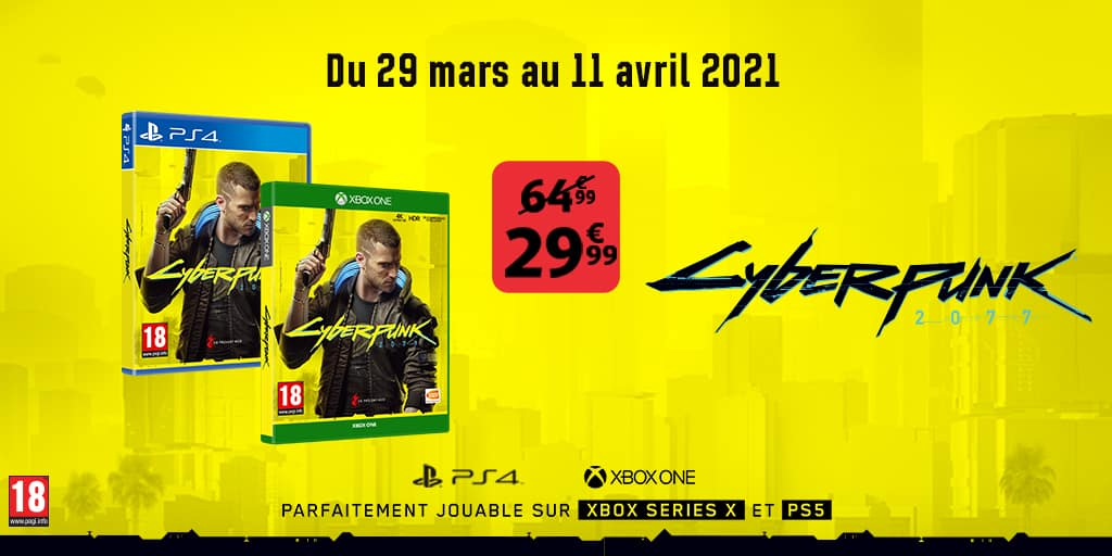 Cyberpunk promo Auchan