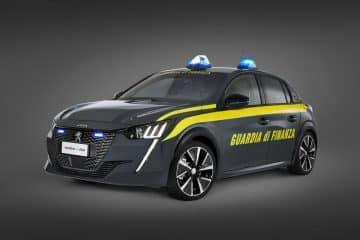 Peugeot e 208 Guardia di Finanza