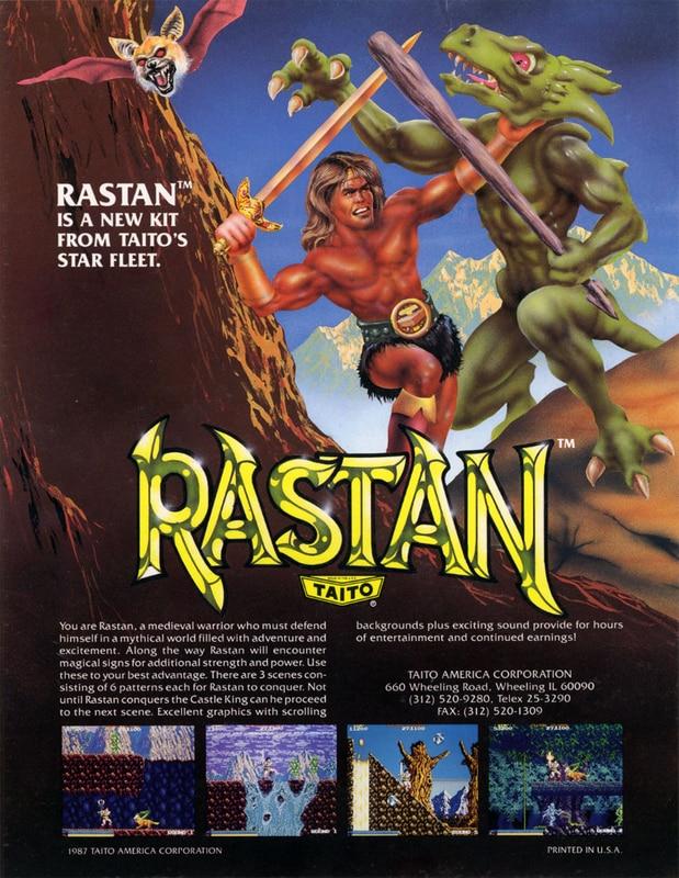 #Rétrogaming : Tu te souviens… Rastan sur borne d'arcade