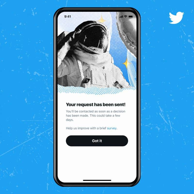 Formulaire Certification Twitter 2021